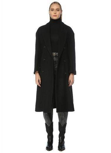 Etoile Isabel Marant Etoile Isabel Marant  Kırlangıç Yaka Kruvaze Yün Palto 101550493 Siyah